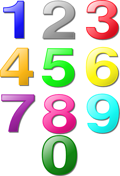 Colorful Numbers clip art Free Vector / 4Vector