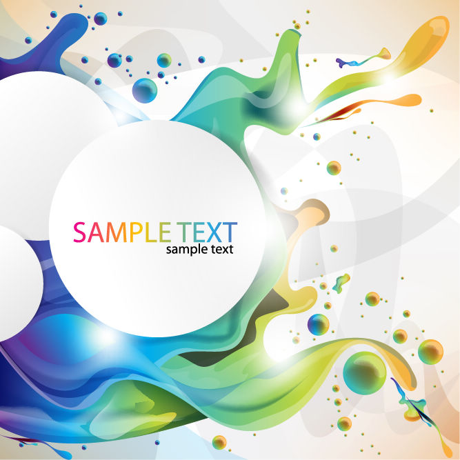 free vector Colorful Paint Splashing Vector Art