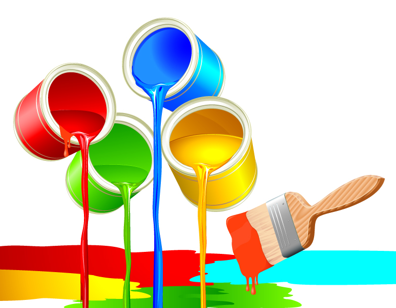 free vector Colorful paint theme vector