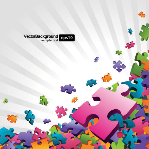 Puzzle Pieces Background Free Vector Background Free Vector