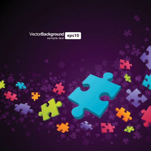 Puzzle Pieces Background Free Vector Background is Free Vector