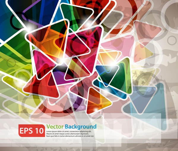 free vector Colorful rectangles background vector