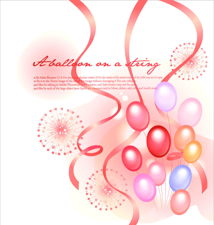 free vector Colorful ribbon balloon festival fireworks background vector 1