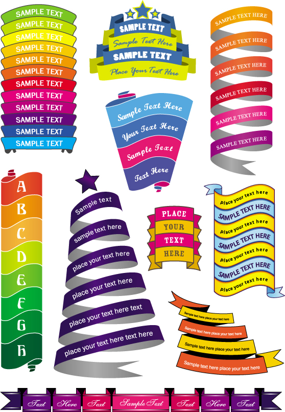 free vector Colorful ribbons vector 5620