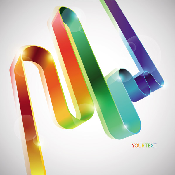free vector Colorful ribbons vector 6807