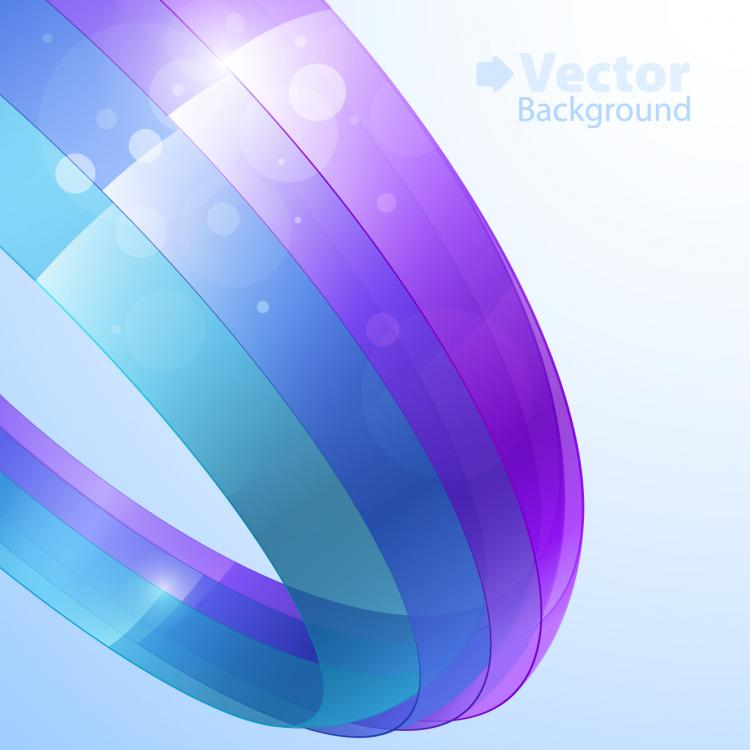 free vector Colorful ribbons vector background 1