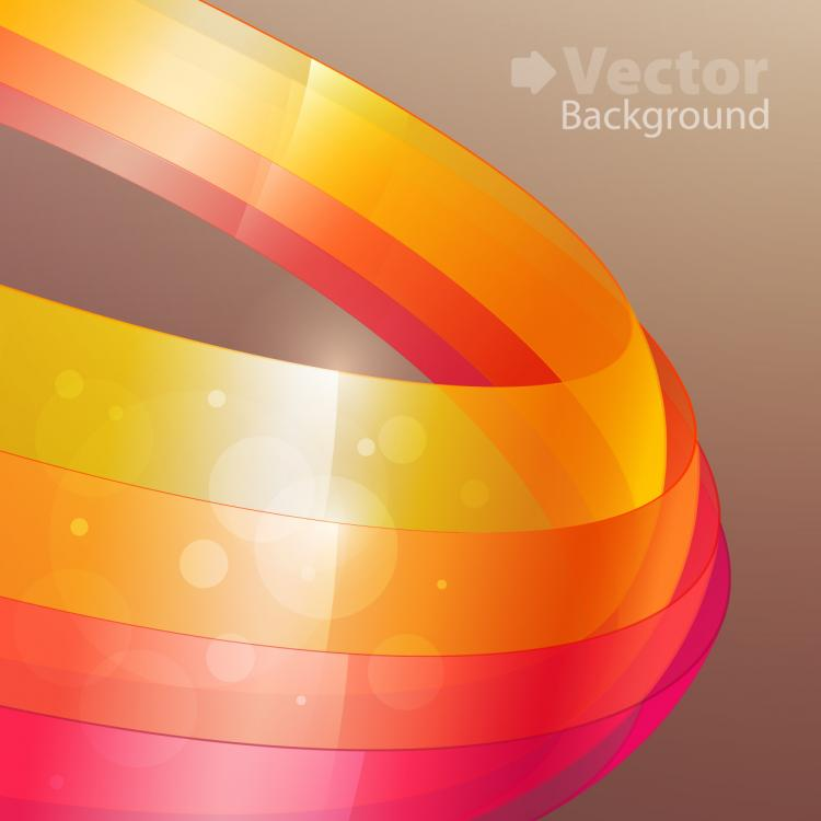 free vector Colorful ribbons vector background 2