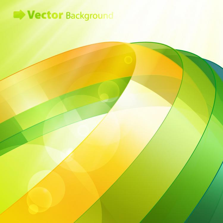 free vector Colorful ribbons vector background 4