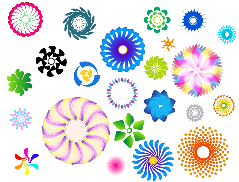 free vector Colorful rotating pattern vector