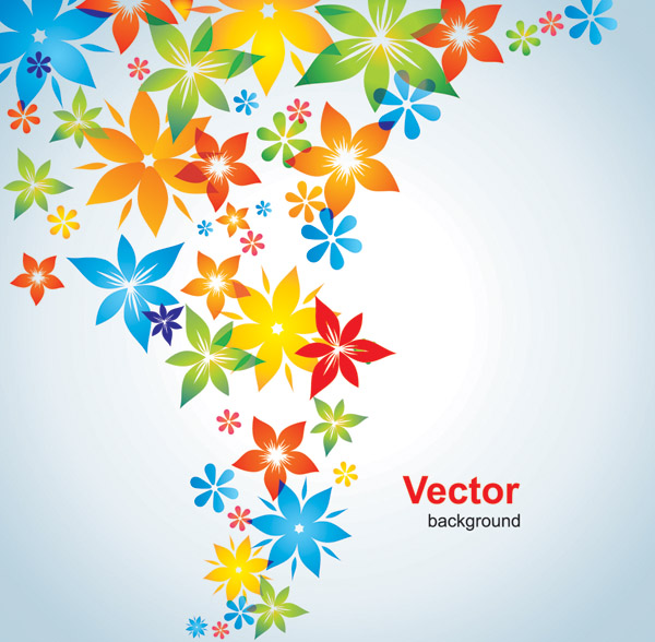 free vector Colorful small flowers vector background