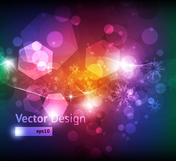 free vector Colorful snowflake background vector
