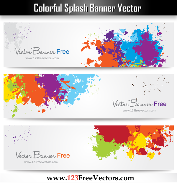 free vector Colorful Splash Banner Vector