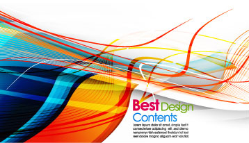 free vector Colorful stripes vector 2 m