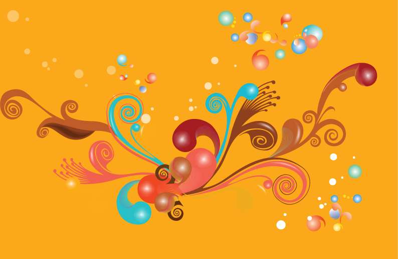 free vector Colorful Swirls Vecotr Illustration