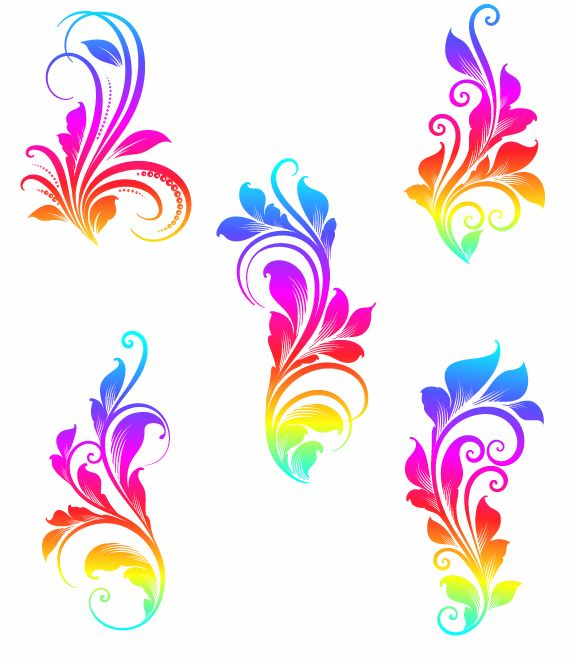 free vector Colorful Swirls Vector Graphics