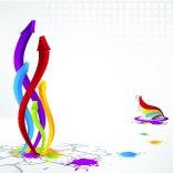free vector Colorful threedimensional arrow vector