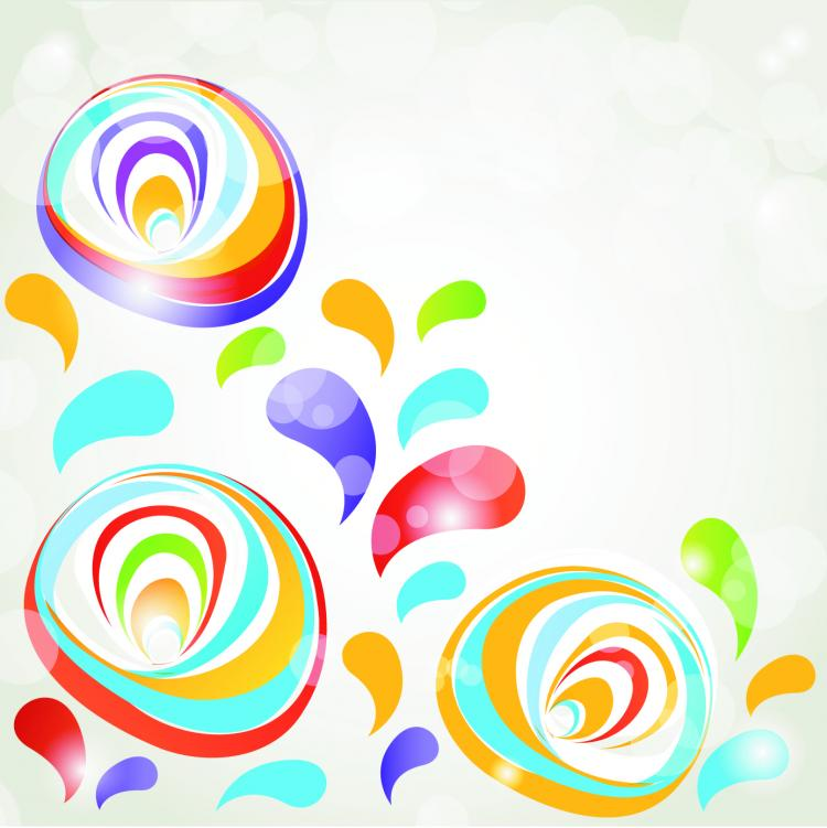 free vector Colorful vector background 18325