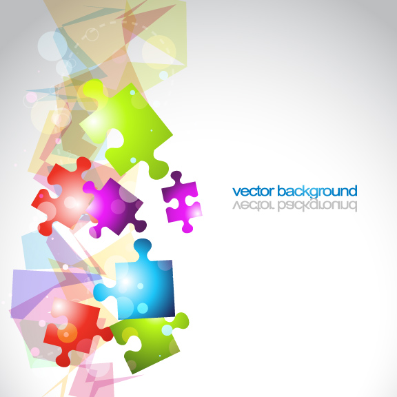free vector Colorful vector background 3 puzzle