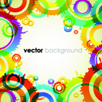 free vector Colorful vector background 4