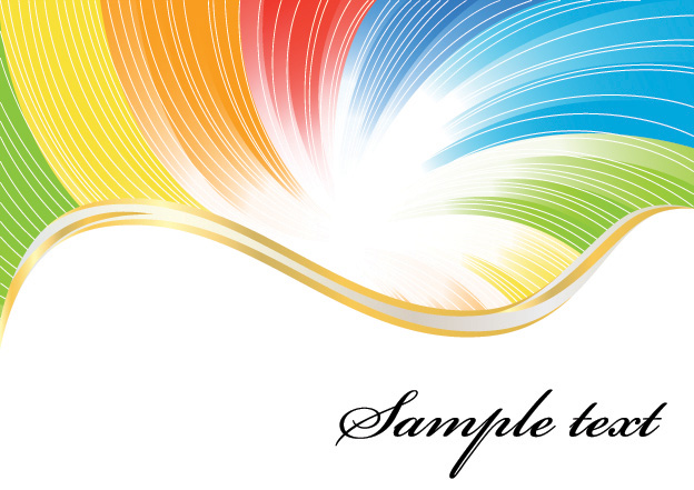 free vector Colorful vector background lines