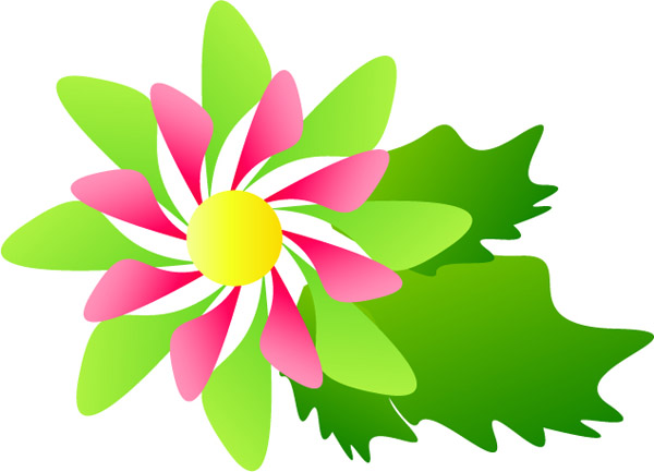 free vector Colorful vector flowers