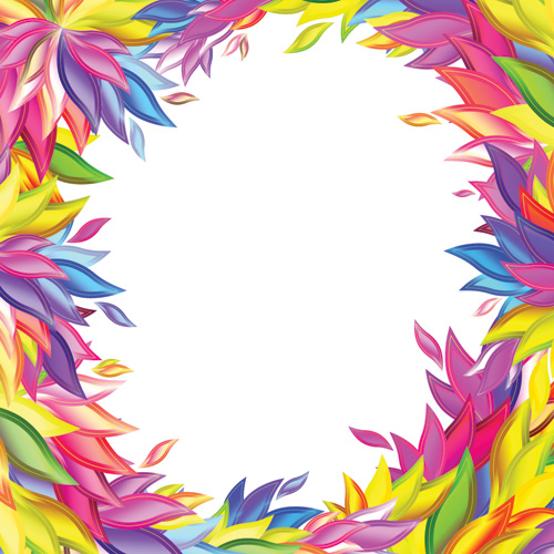 free vector Colorful willow shape vector