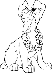 free vector Coloring Book Dog Ilio clip art
