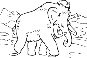 free vector Coloring Book Mammoth clip art