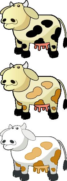 free vector Colour Cows clip art