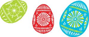 free vector Colour Easter Eggs clip art