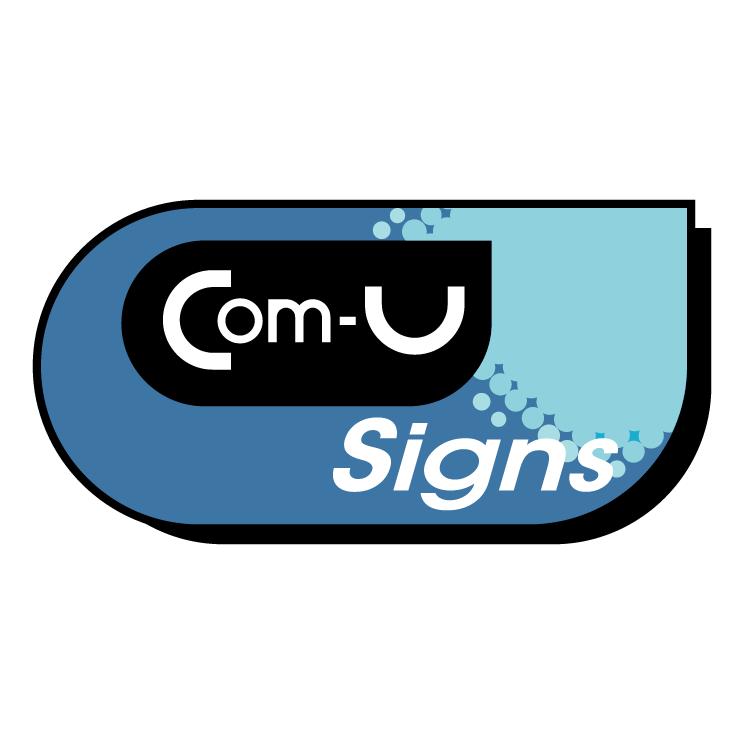 free vector Com u signs