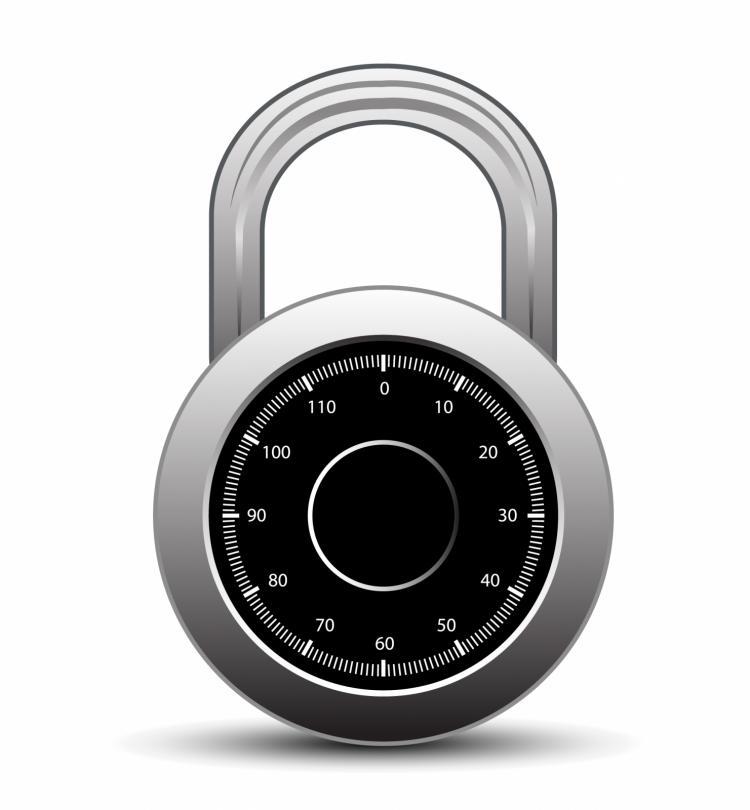 free vector Combination lock