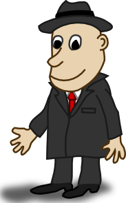 free vector Comic Characters Businessman clip art