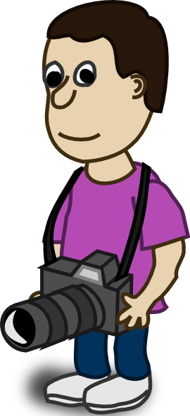 free vector Comic Characters Camera clip art