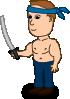 free vector Comic Characters Fake Ninja clip art