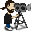 free vector Comic Characters Filmmaker clip art