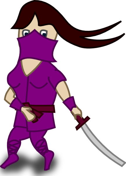 free vector Comic Characters Ninja clip art