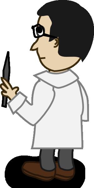 free vector Comic Characters Professor clip art