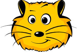 free vector Comic Hamster Face clip art