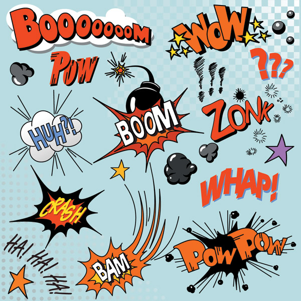free vector Comics word vector 3