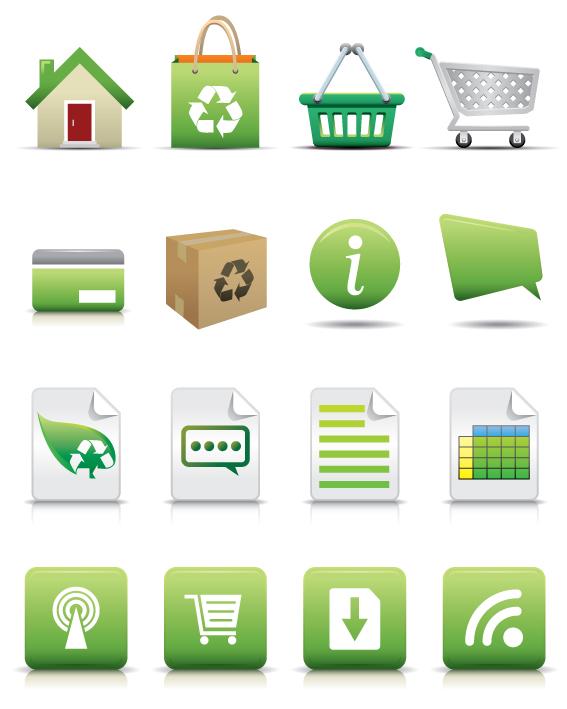 free vector Commerce Icon Set