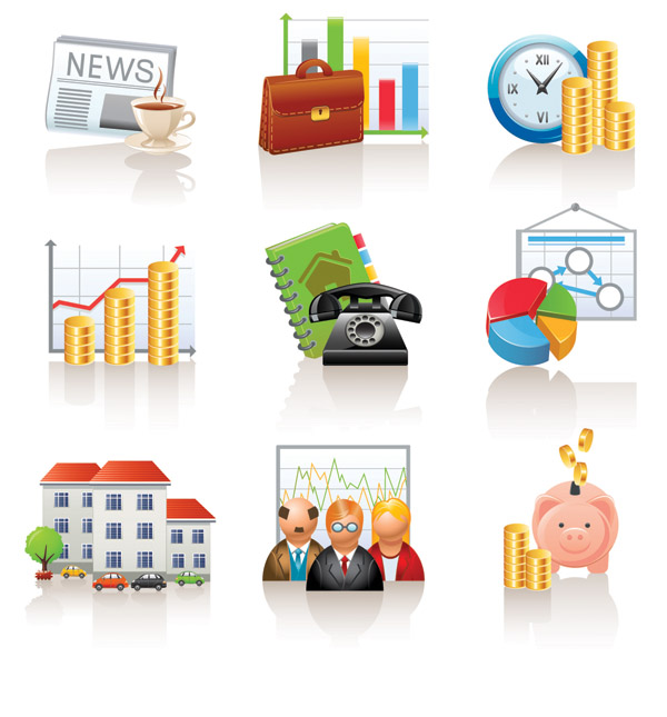 free vector Commercial and financial icon vector 1