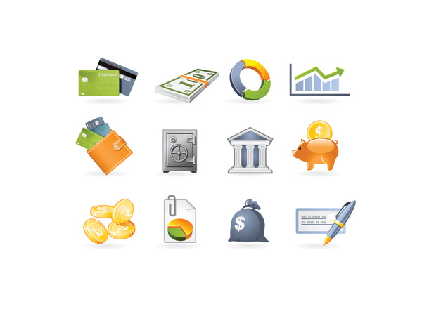free vector Commercial and financial icon vector 2