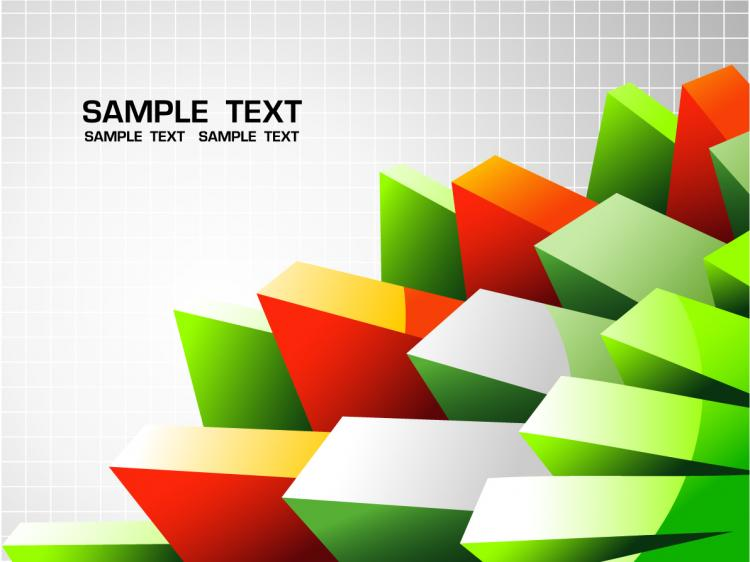 free vector Commercial background vector the trend cube