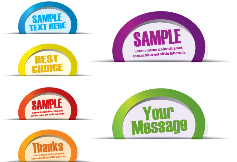 free vector Common labels 04 vector