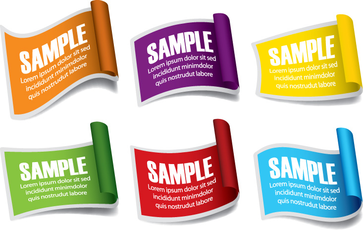 free vector Common labels 05 vector