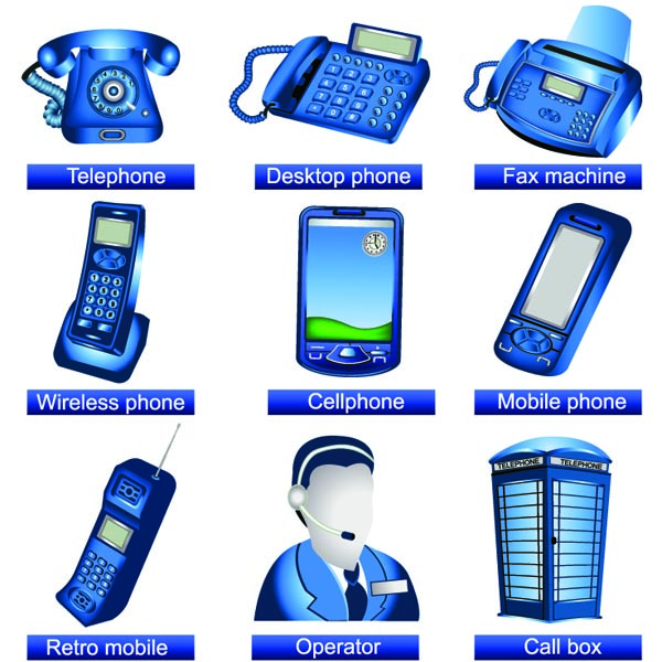free vector Communication facilities icons vector