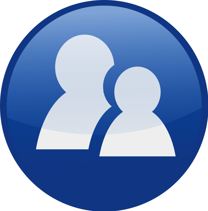 free vector Communicator-blue