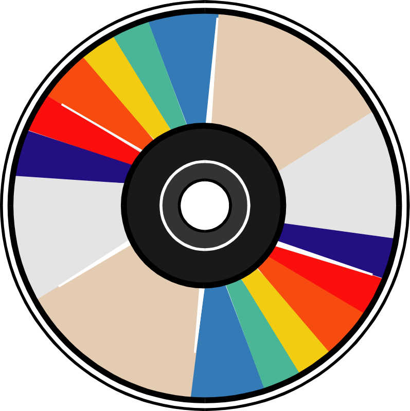 free vector Compact disk 04