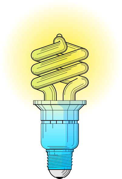 Compact Fluorescent Light Bulb clip art Free Vector / 4Vector